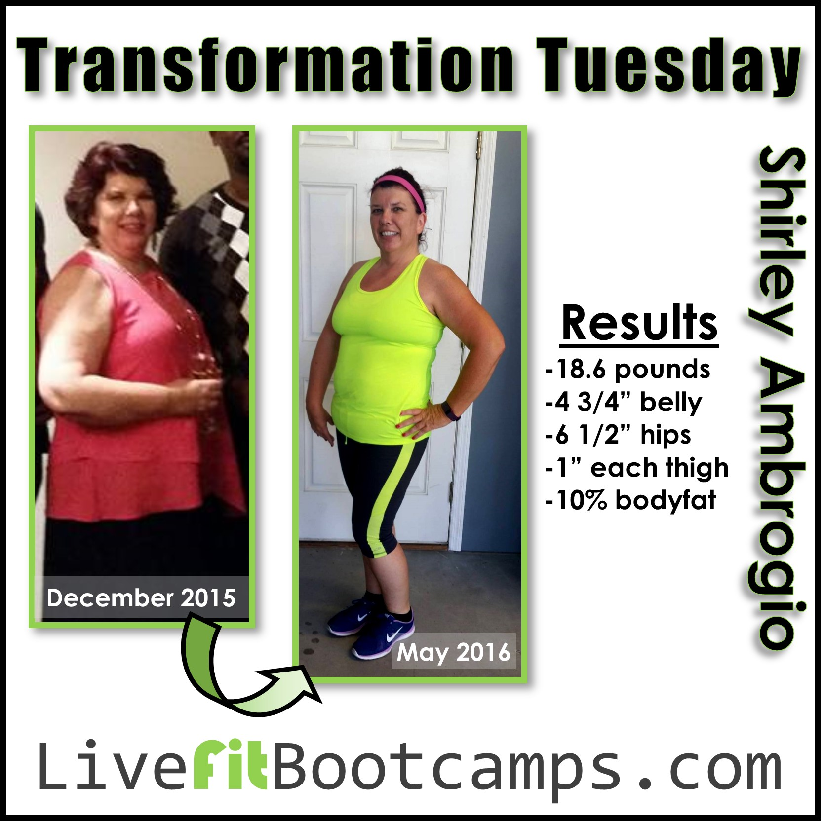 Transformation tuesday boot camp new port richey shirley