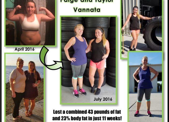 Vannata mom daughter workout bootcamp Live Fit transformation