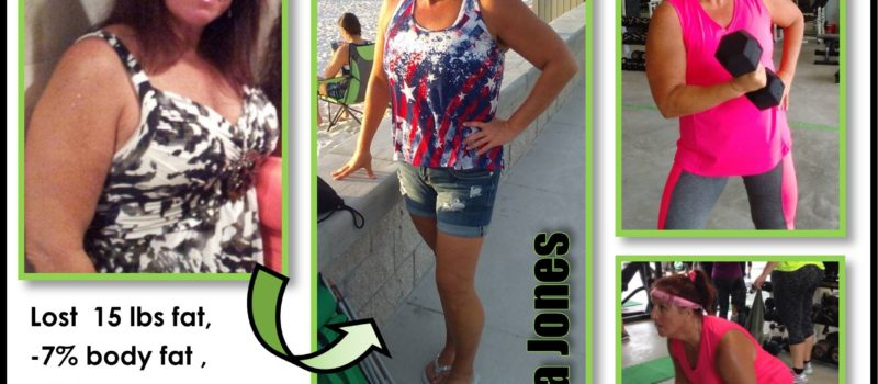 Tina Jones boot camp weight loss success