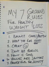 My 7 Groundrules for Healthy Weight Loss