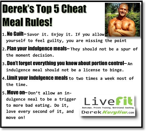 My 5 Groundrules for CHEAT MEALS!