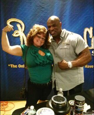 With 8 time Mr. Olympia Ronnie Coleman, while watching fellow bootcamper Sara Crosswhite compete in her first bikini contest.