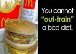 out train a bad diet