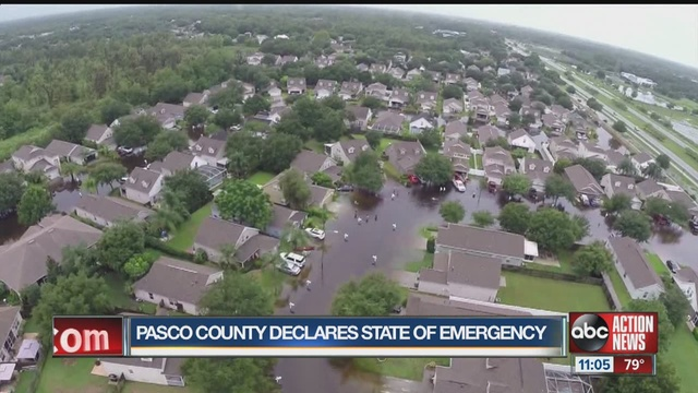 pasco county flooding state of emergency