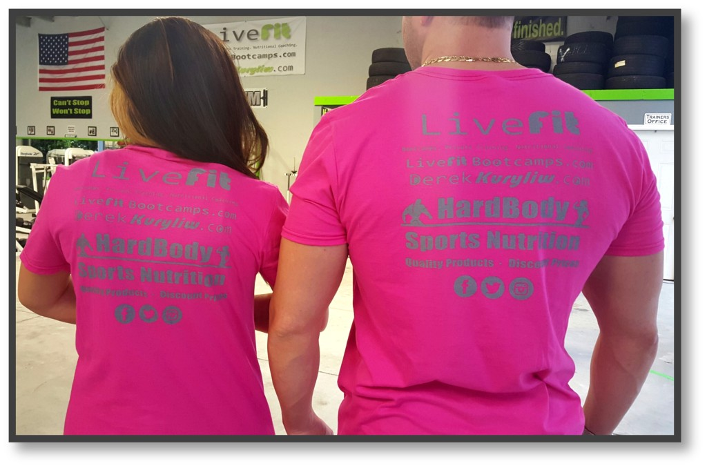 Live Fit boot camp fundraiser t shirt fight cancer