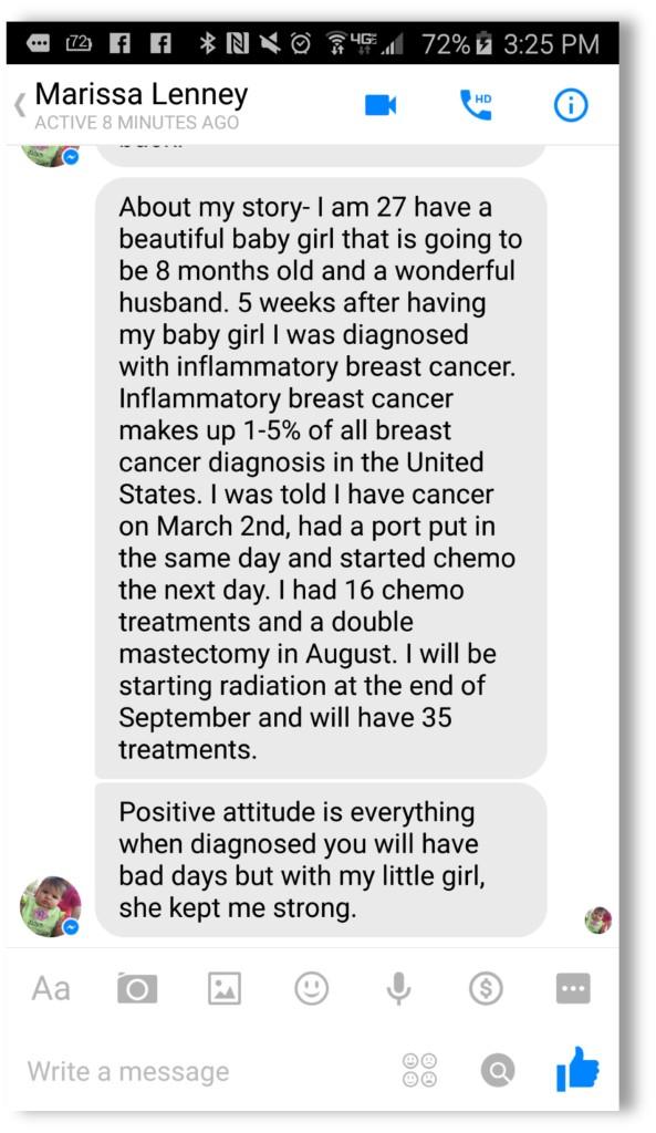 marissa facebook message