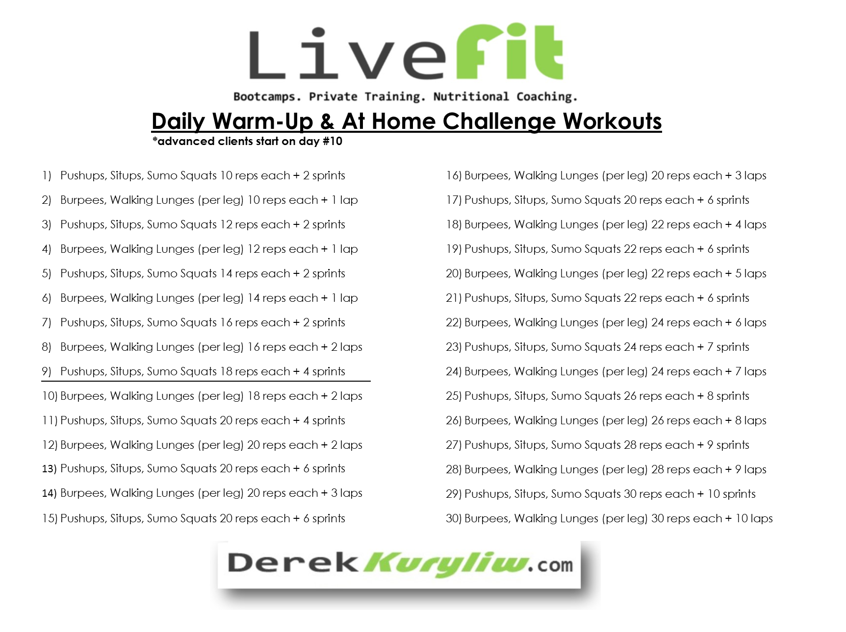 2016 21 Day Nutrition And Accountability Challenge Daily