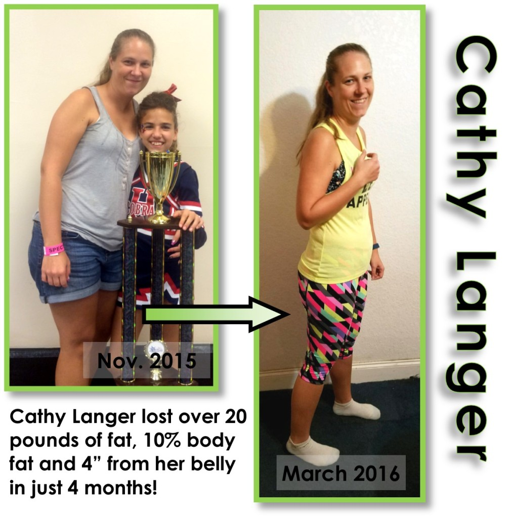 Cathy Live Fit boot camp mom fitness weight loss success