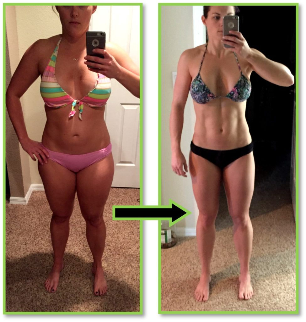 Fitness mom bikini before after transformation pic