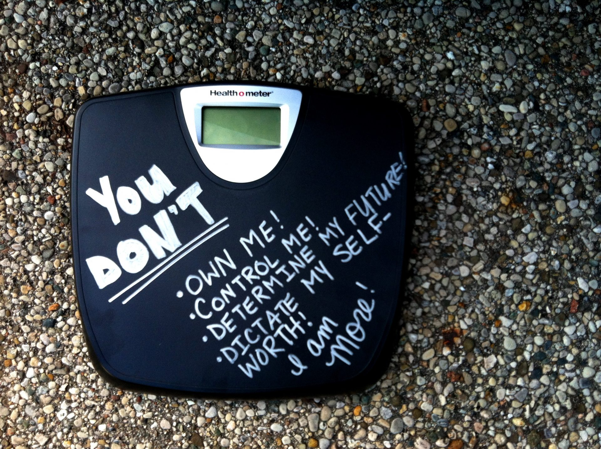 Throw Away the F'ing Scale!