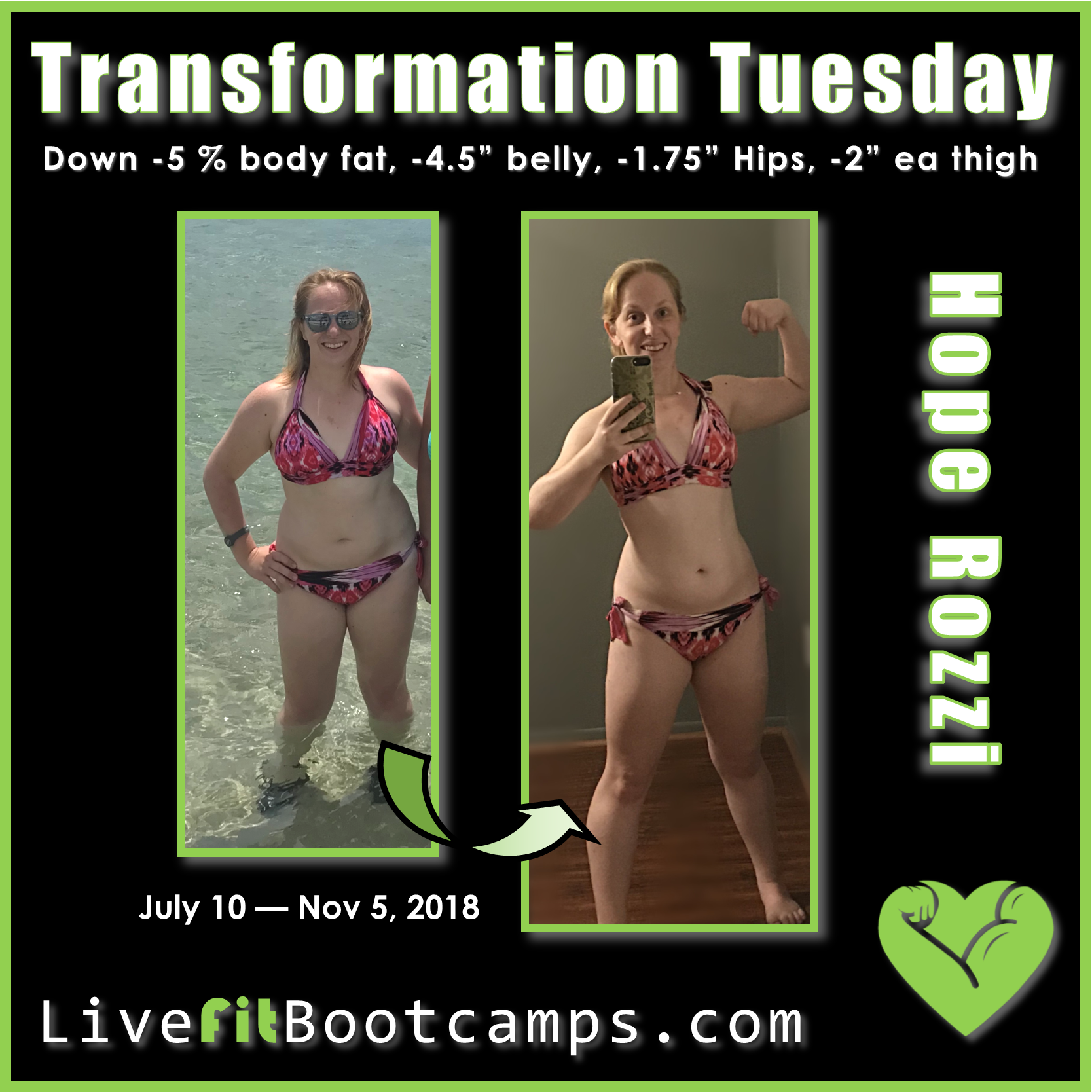 Hope transformation tuesday weight loss bootcamp success