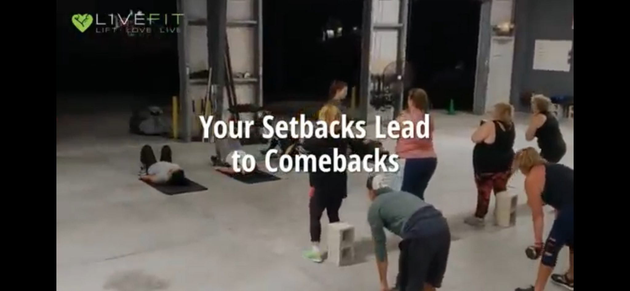 Turn a SETBACK into a COMEBACK!