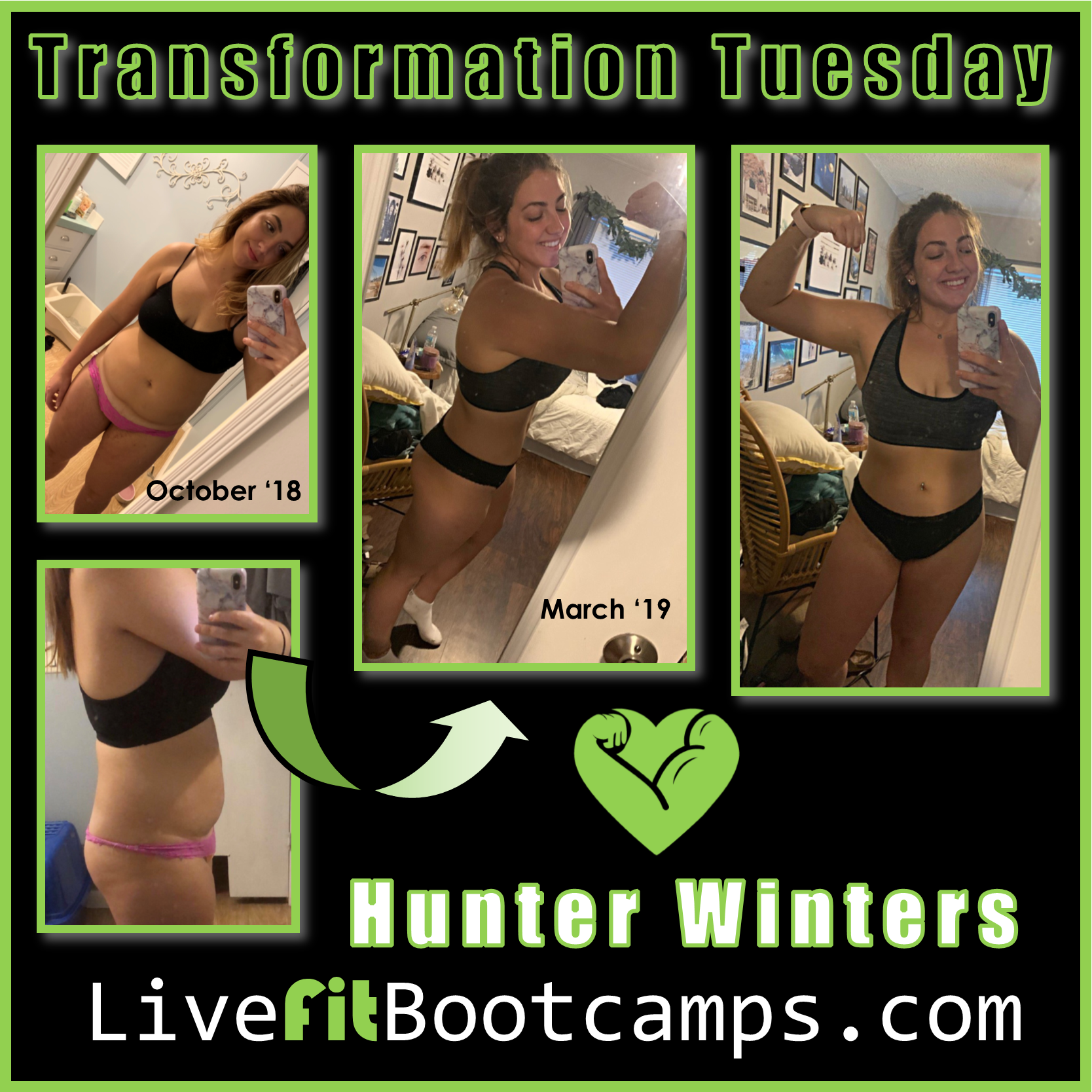 Live Fit Boot Camp Transformation Tuesday Hunter Winters