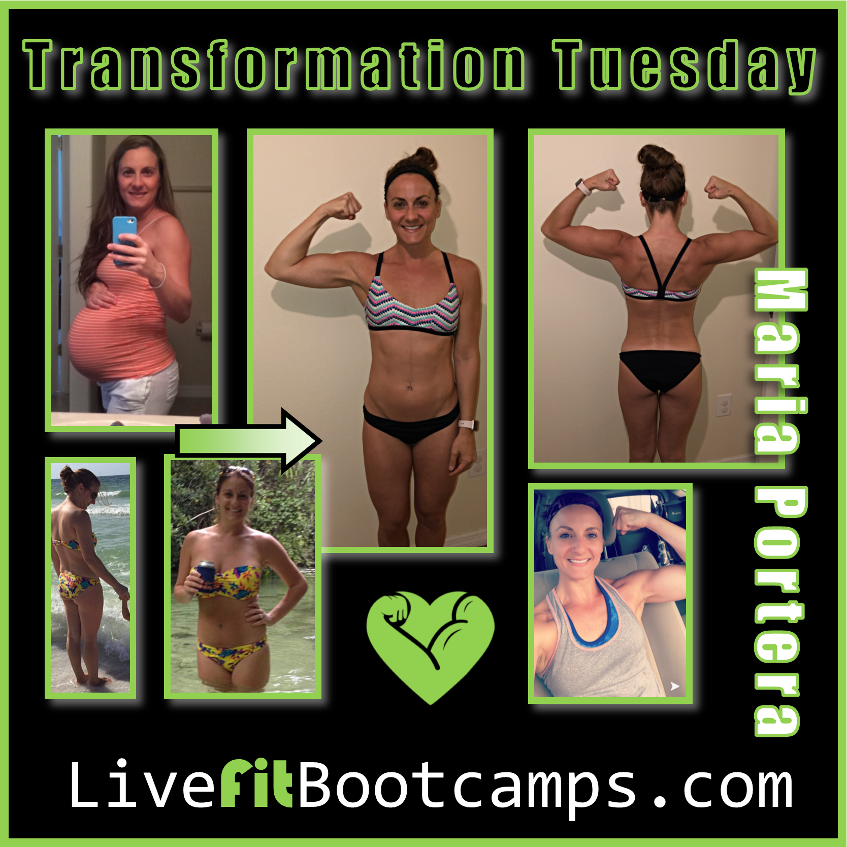 Maria Transformation Tuesday success before after live fit